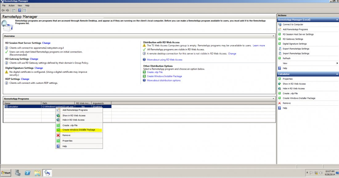 Step By Step Deploy RemoteApp TS 2012