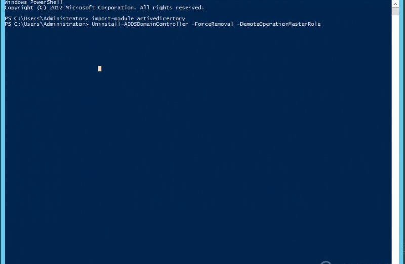 DEMOTE_ActiveDirectory