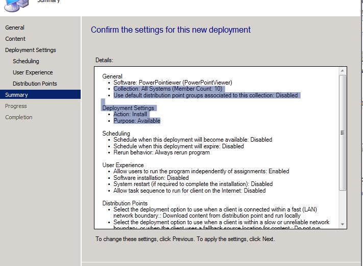 Deploy EXE file using SCCM