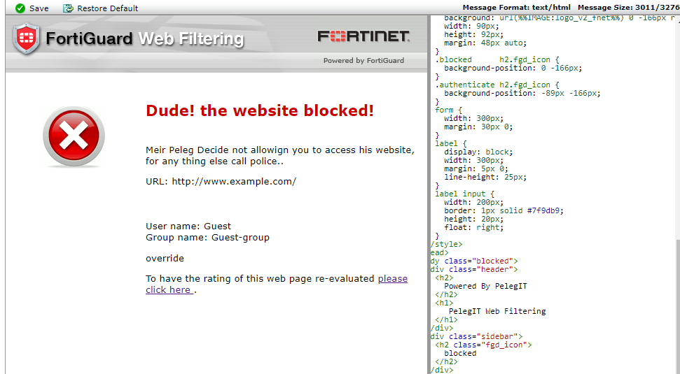 Configure Web Filtering in Fortigate