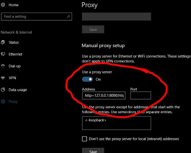 Proxy settings change automatically Windows 10