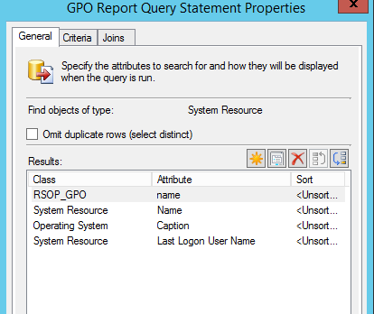 SCCM GPO result query